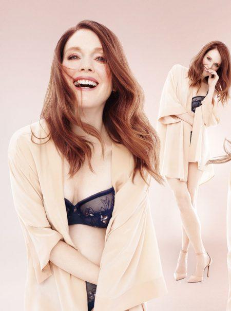 La lección de Julianne Moore como modelo de lencería a los 57 años
