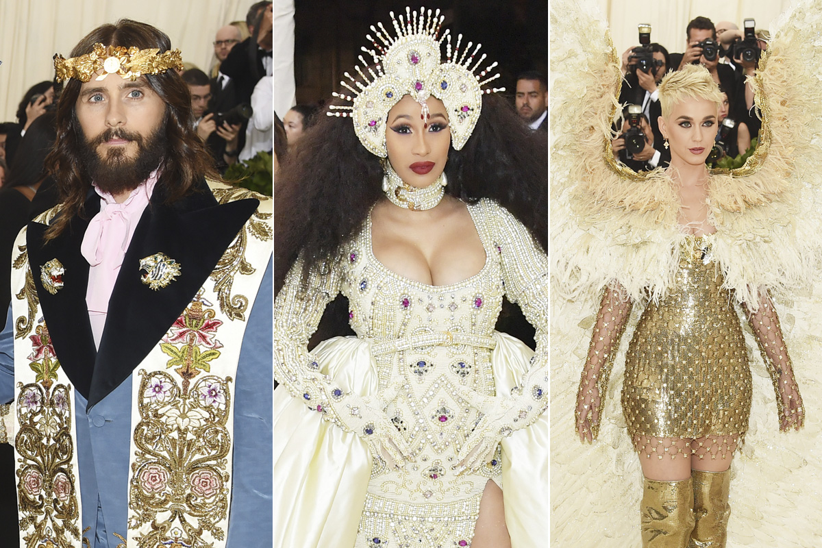 Trío celestial de la Gala Met: Jesucristo Leto, la Virgen Cardi B. y el ángel Perry
