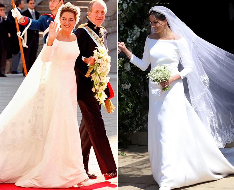 El Vestido De Meghan Markle Y El De La Infanta Cristina