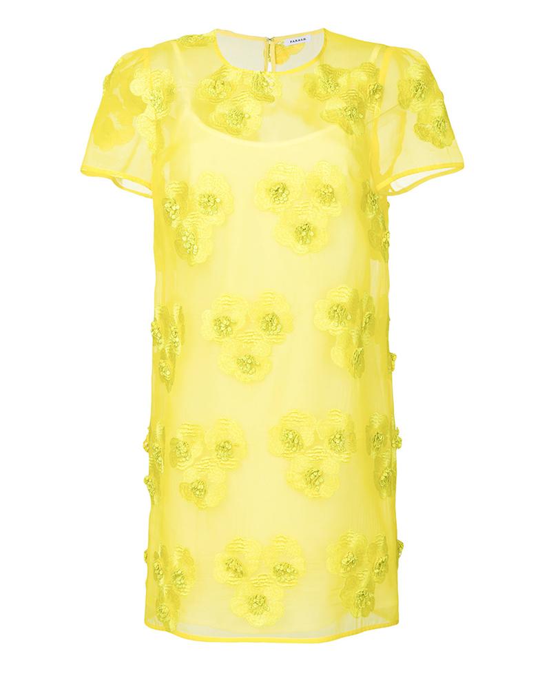 vestido invitada amarillo