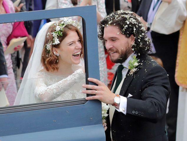 Los actores de 'Juego de tronos' celebran la boda de Kit Harington y Rose Leslie
