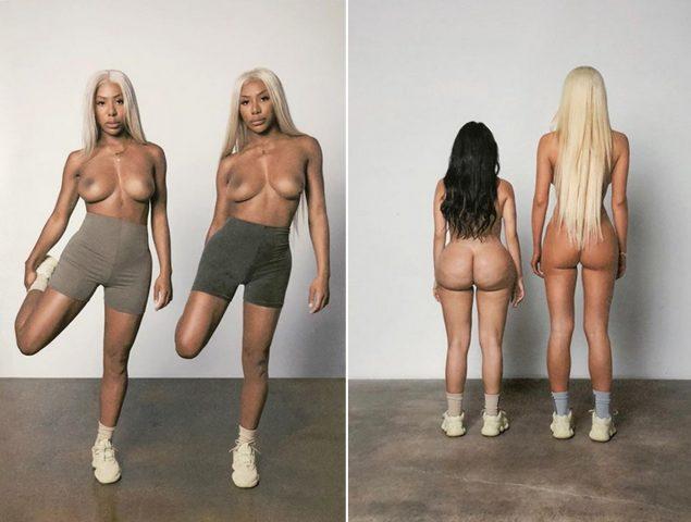 La nueva campaña de Kanye West está protagonizada por imitadoras de Kim Kardashian desnudas