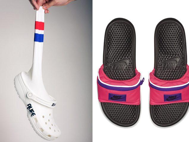 La chancla-riñonera y el zueco-calcetín: los zapatos se convierten en meme