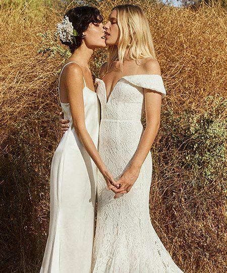 Esta pareja de lesbianas es la nueva imagen de la colección nupcial de Reformation