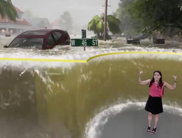 La meteoróloga que ha hipnotizado a internet con este vídeo del huracán Florence