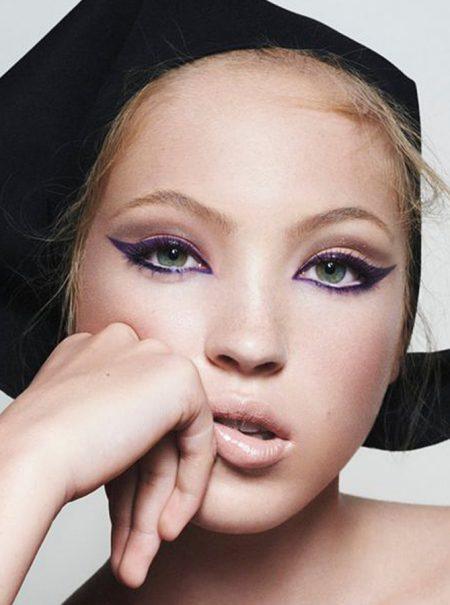 Lila Moss, hija de Kate Moss, debuta como modelo en su primera campaña