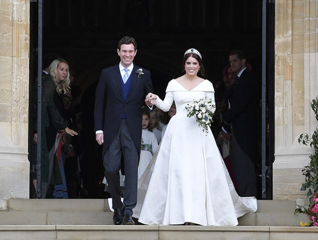 El vestido de novia de Eugenia de York, al detalle