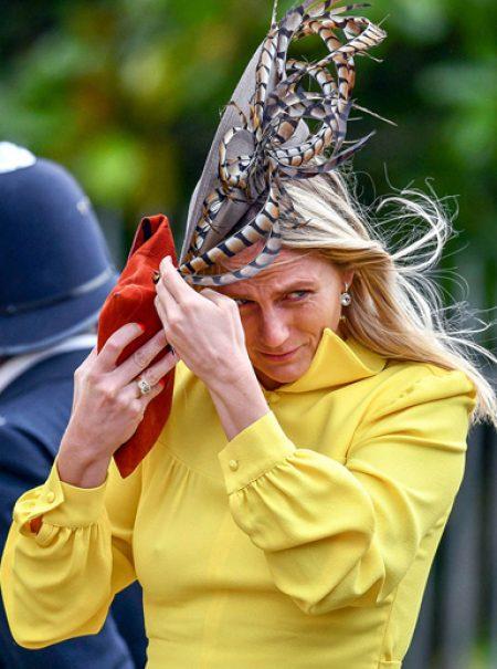 El viento, el mayor enemigo de las invitadas a la boda de Eugenia de York