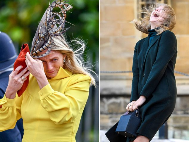 El viento, el mayor enemigo de las invitadas a la boda de Eugenia de York