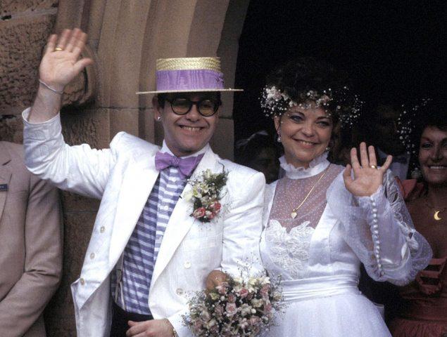 Esta es la desconocida mujer con la que Elton John se casó en los ochenta