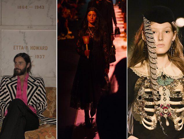 El cementerio como pasarela: la moda invoca a los muertos para vender