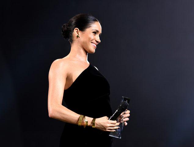 La inesperada aparición de Meghan Markle (muy embarazada) en los British Fashion Awards