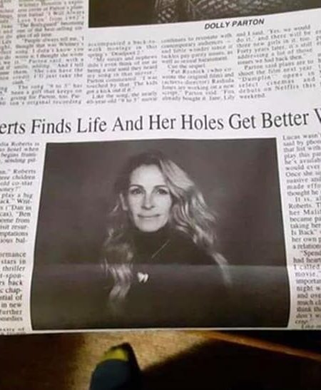 """""""Sus agujeros mejoran con la edad"""": la épica errata viral sobre Julia Roberts"""