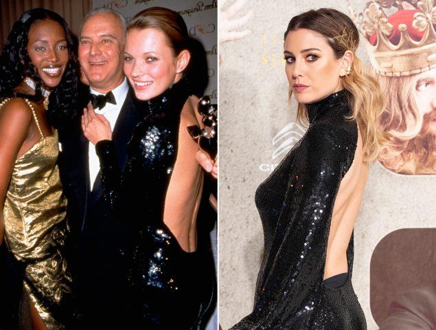 Blanca Suárez 'copia' un look de fiesta que ya llevó Kate Moss en los 90