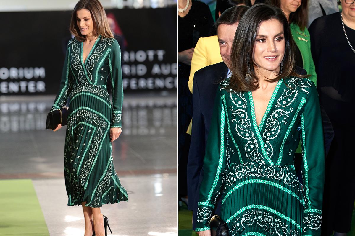 Cómprate el vestido verde de Letizia a mitad de precio
