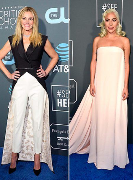 Lady Gaga (y casi todas) se visten de novia en los Critics' Choice Awards