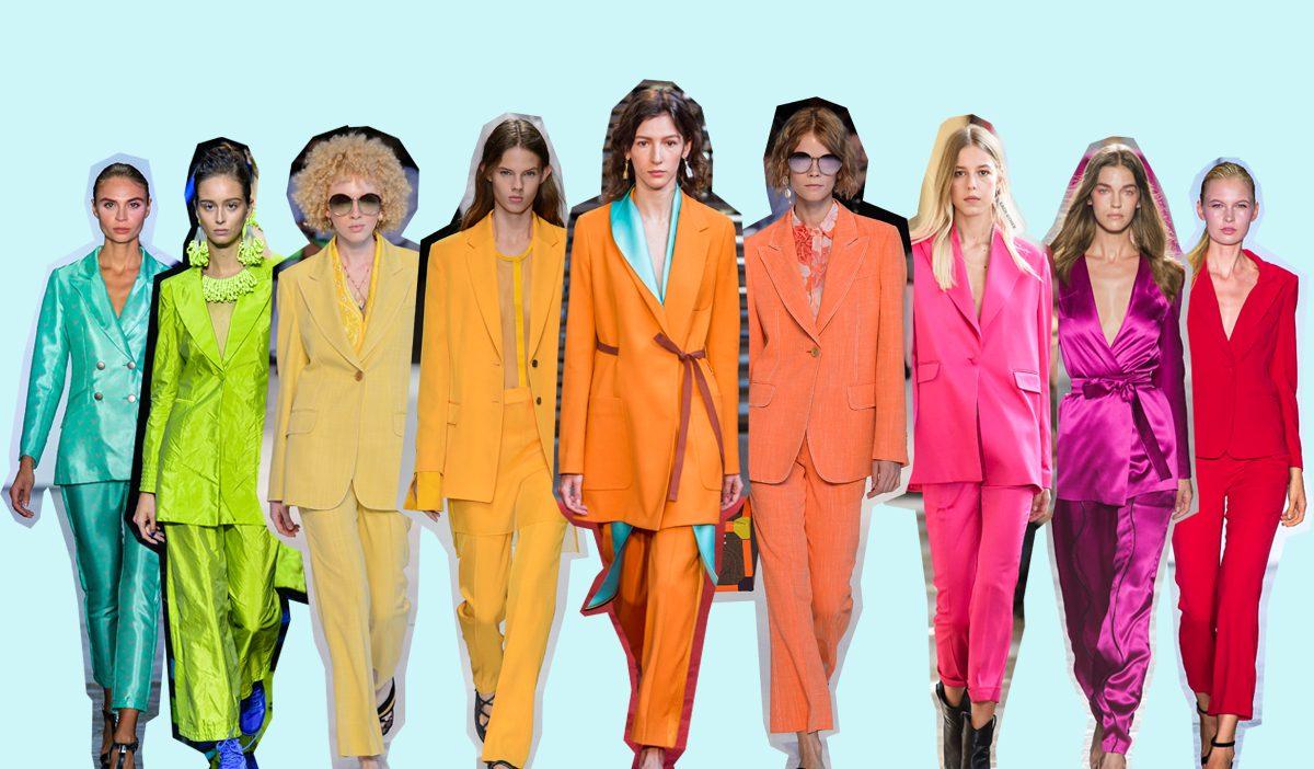 El traje: será de colores