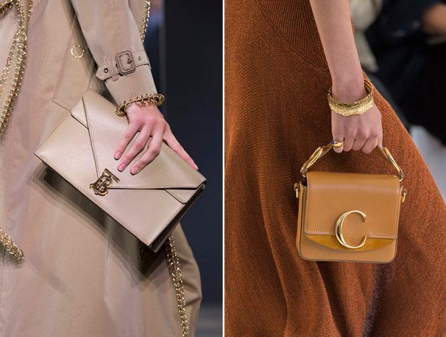 El logo está en el broche: los bolsos de esta primavera llevarán iniciales icónicas