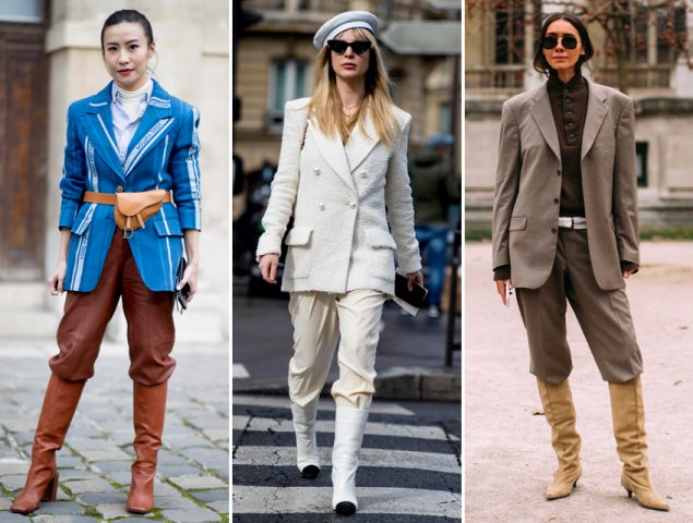 Traje con botas y otras lecciones de estilo que aprendimos del último 'street style'