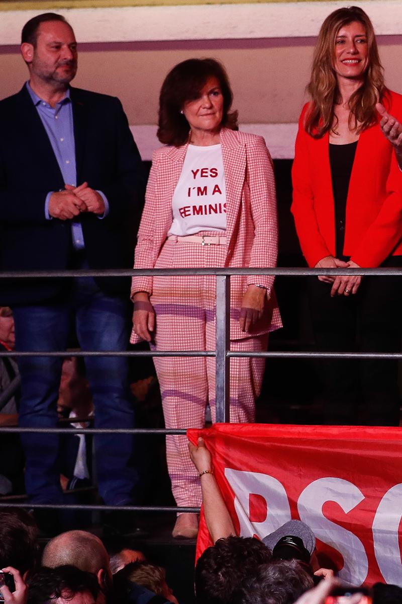 Carmen Calvo, el look de la victoria es de Mango y Zara (y