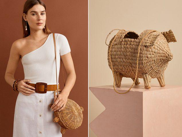 Alerta tendencia: bolsos de rafia con forma de cerdo o casa (que no son para niñas)