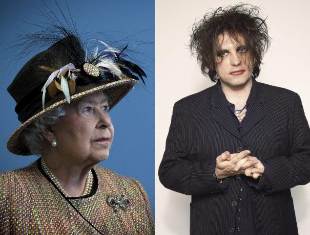 Isabel II y Robert Smith