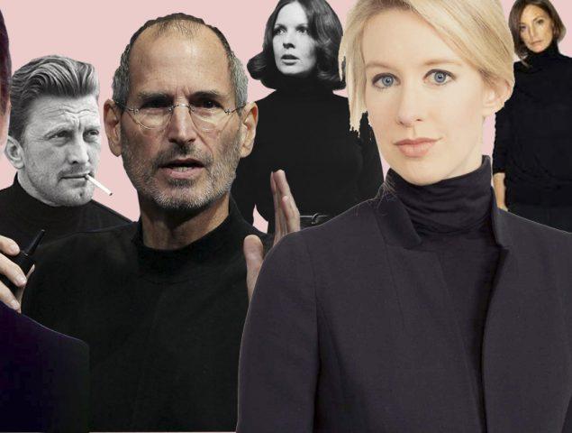 Rebeldes, genios y estafadores: la curiosa mística del jersey negro de cuello alto