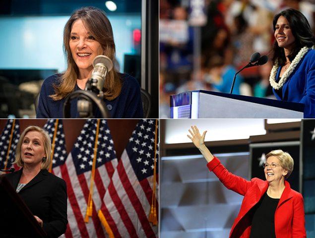 Así son las 6 candidatas demócratas (entre 16 hombres) que quieren derrotar a Donald Trump