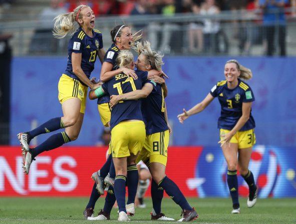 Jugadoras del equipo de Suecia