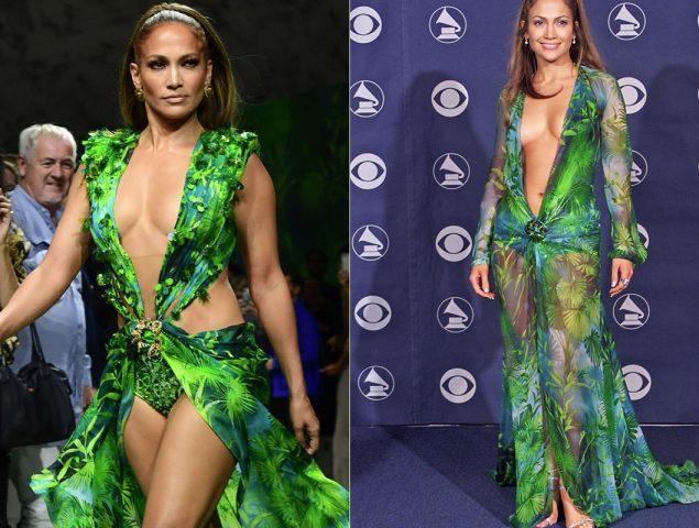 Jennifer Lopez rompe Internet (otra vez) y desfila con el Versace que inventó Google Imágenes