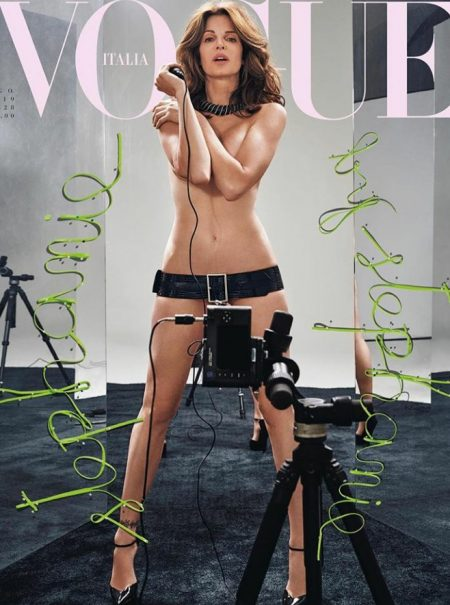 La legendaria modelo Stephanie Seymour regresa desnuda a 'Vogue' Italia