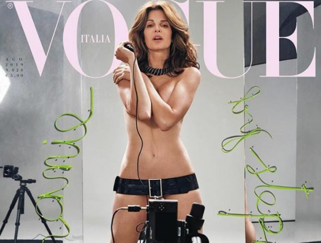 La legendaria modelo Stephanie Seymour regresa desnuda a 'Vogue' Italia