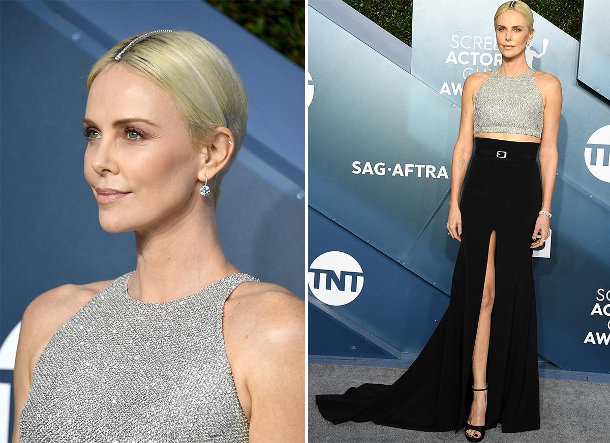 La actriz, con un dos piezas de Givenchy.