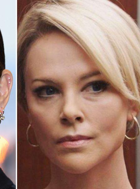 La increíble transformación de Charlize Theron en Megyn Kelly, la presentadora que se enfentó a Trump