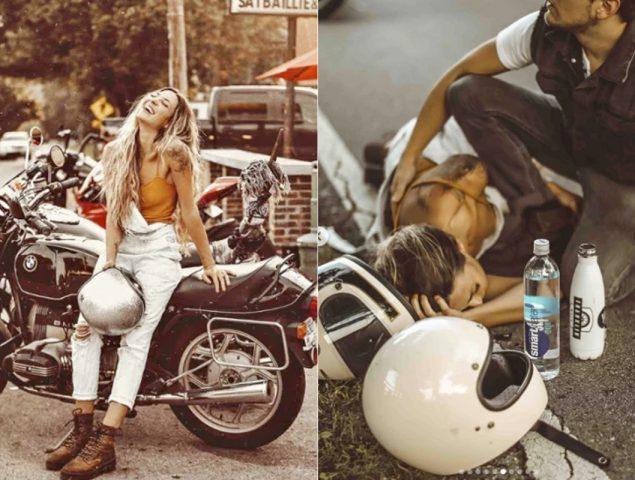 Polémica por la influencer acusada de convertir su accidente de moto en un post patrocinado