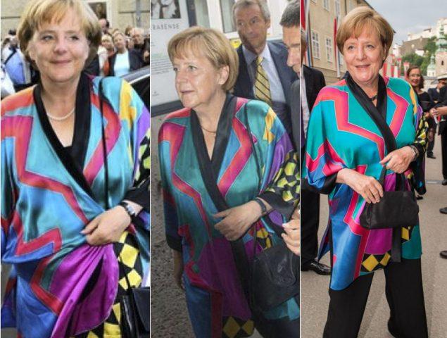 El genial idilio de Angela Merkel con su kimono 'de festival' (o por qué es la jefa de repetir estilismo)