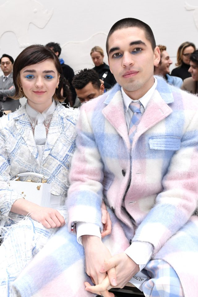 Maisie Williams y Reuben Selby