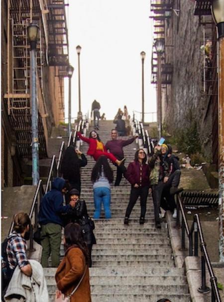 Las escaleras de 'Joker': furor por el nuevo lugar de culto turístico neoyorquino que inquieta a los vecinos