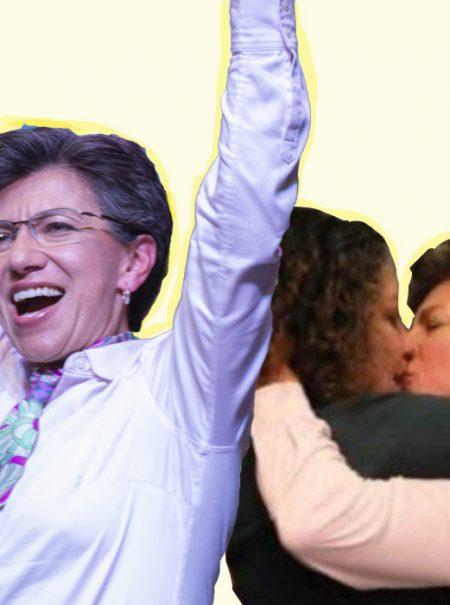 El beso triunfal de la primera alcadesa lesbiana de Bogotá a su novia indigna a los homófobos