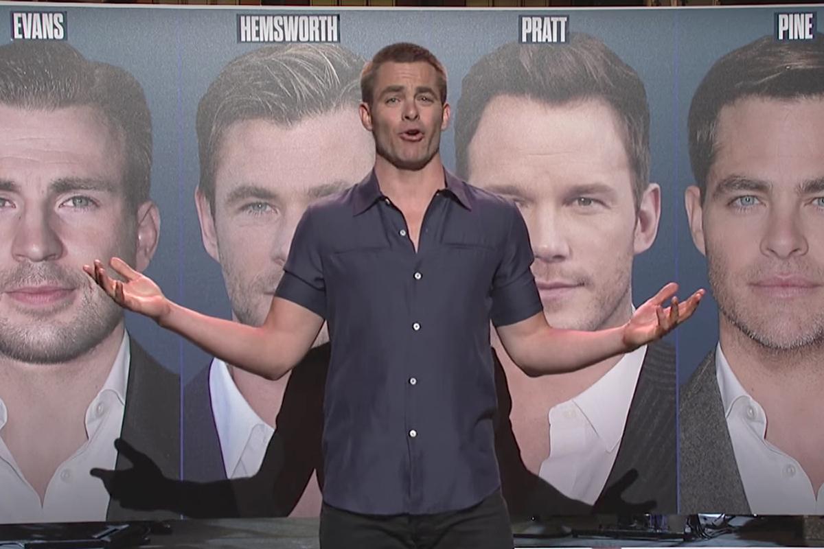 Chris Pine Chris Hemsworth Chris Pratt Chris Evans