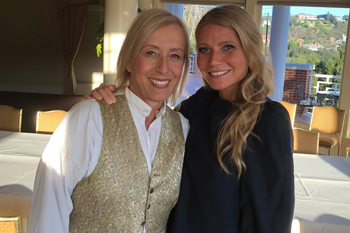 gwyneth paltrow martina navratilova