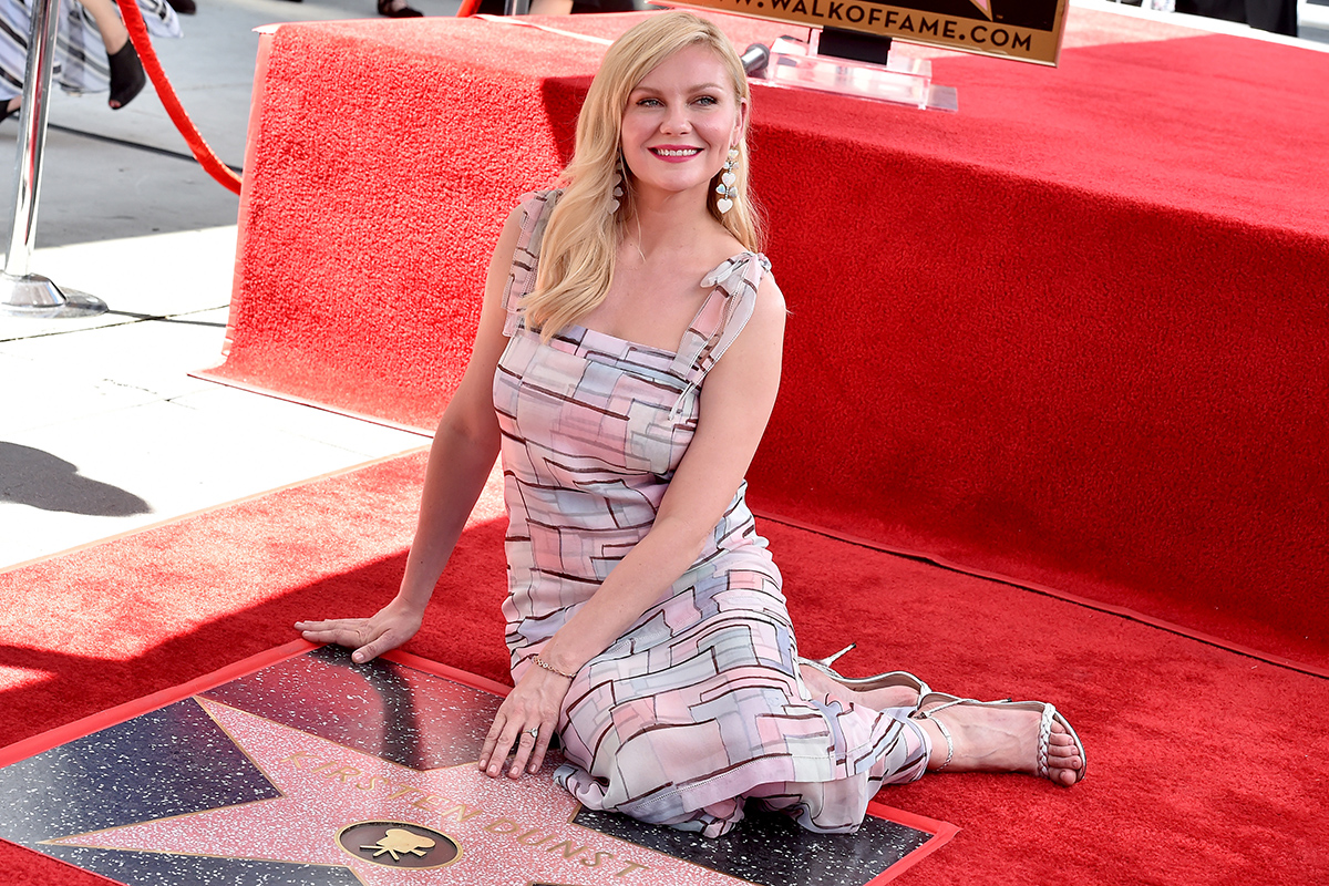 Kirsten Dunst Honored With A Star On The Hollywood Walk Of Fame70th Emmy Awards – Arrivalsbecoming god