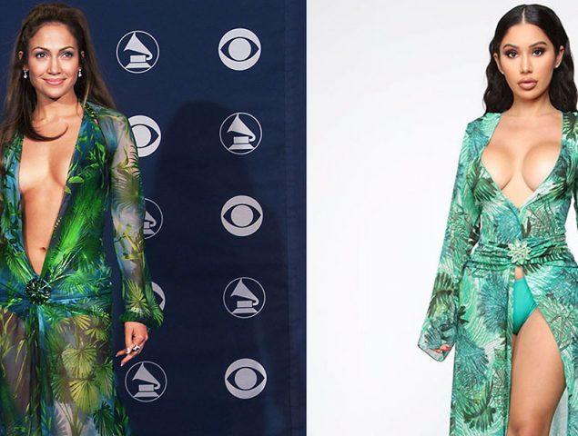 El Versace de Jennifer López y otras copias descaradas que han merecido una denuncia