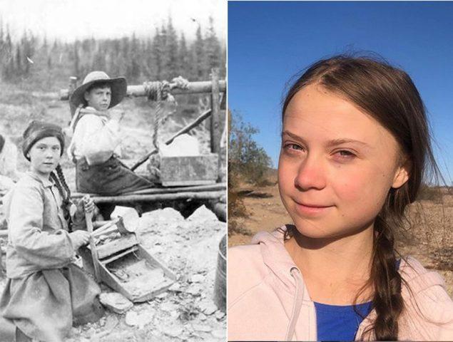 El asombroso parecido de Greta Thunberg con una niña del S. XIX