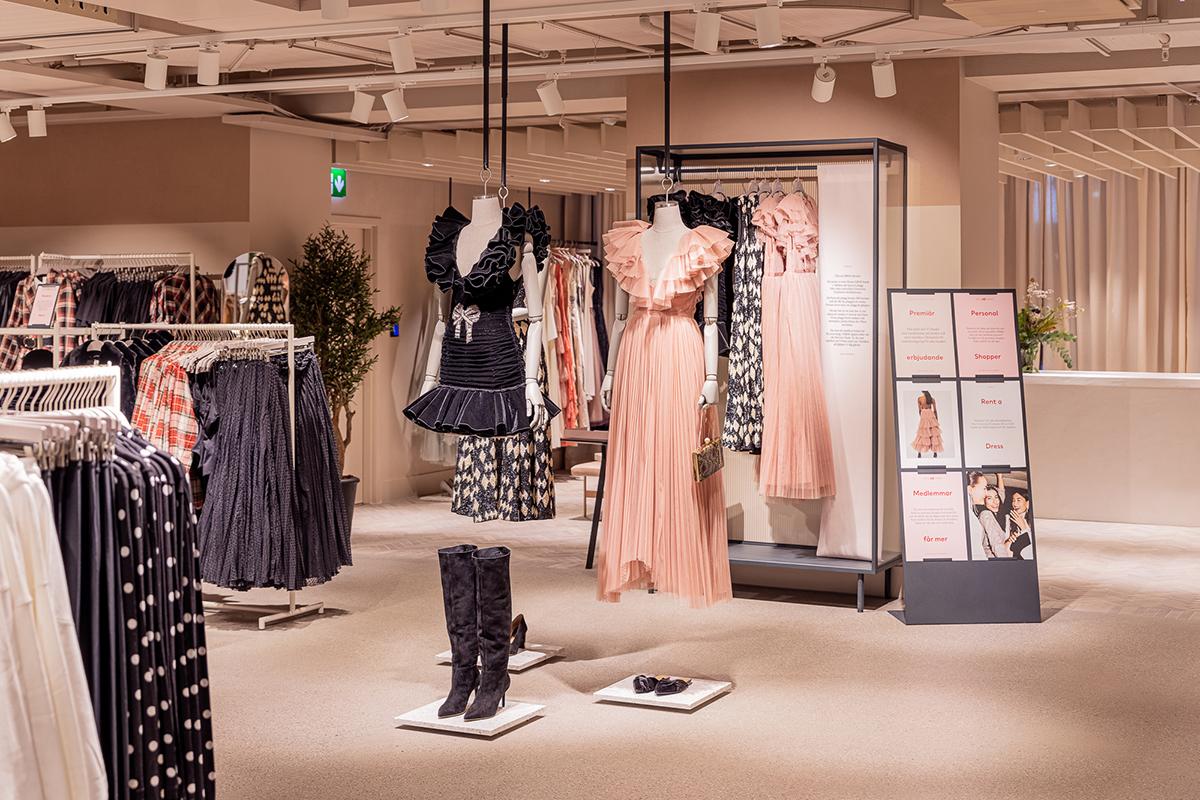 Los vestidos de fiesta de H&M estarán disponibles para su alquiler.