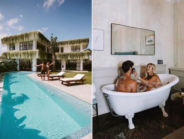 La pareja de 'influencers viajeros' que construyó una mansión en Bali con el dinero que ganaron en Instagram