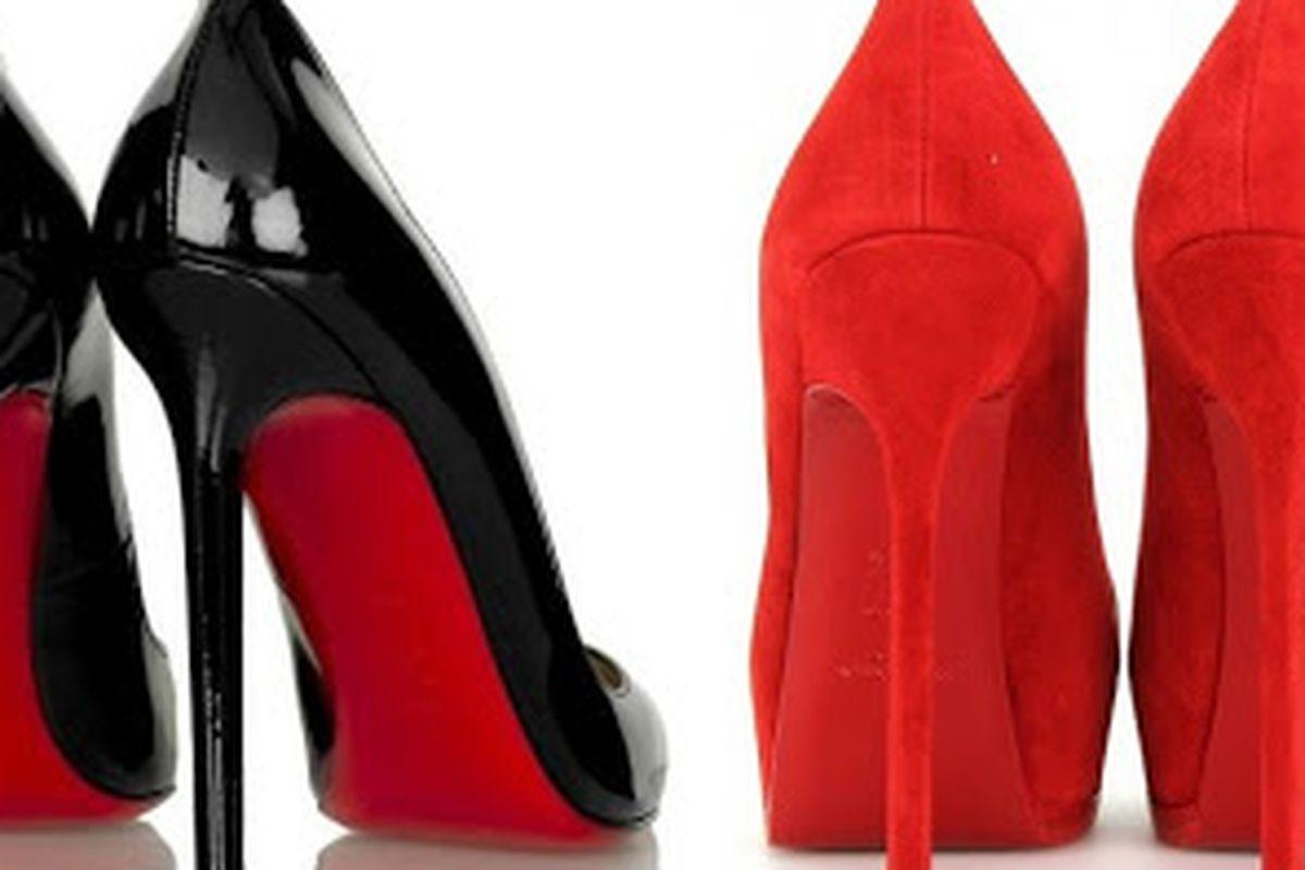 Zapatos de Louboutin / Zapatos de Yves Saint Laurent