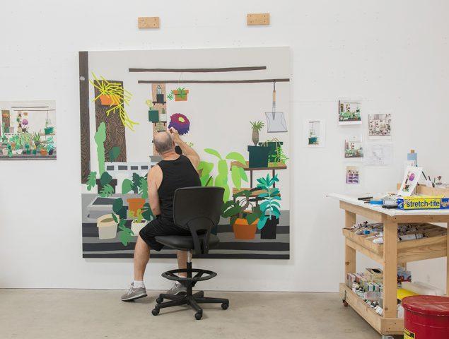 Jonas Wood, el artista que creció jugando entre obras de Francis Bacon y Alexander Calder