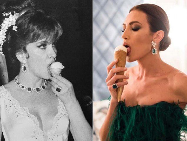 Nieves Álvarez emula a Gina Lollobrigida a través de unos espectaculares pendientes de Bulgari (y un helado)