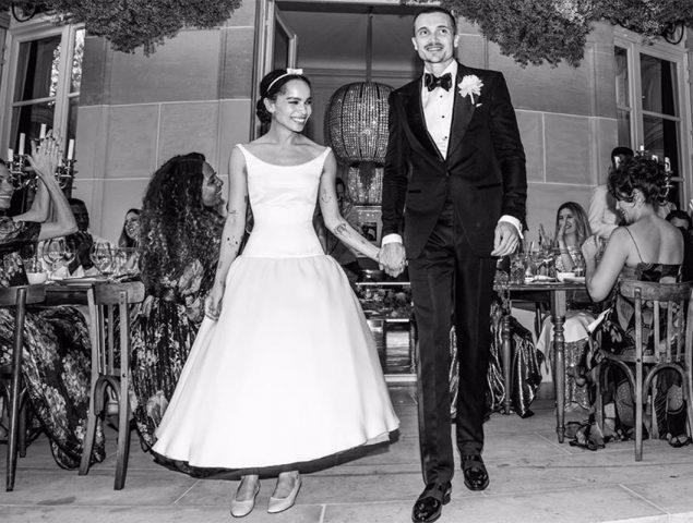Los dos vestidos de novia de la actriz Zoë Kravitz